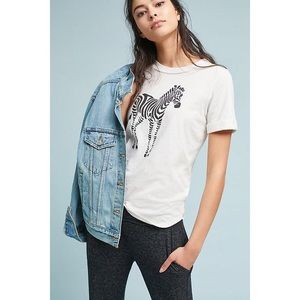 Sol Angeles X Anthropologie Zebra Tee